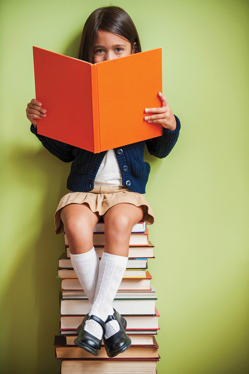 About the NHIDA - Girl sitting on books reading